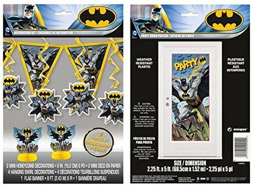 BATMAN Scene Setter BIRTHDAY party wall or door poster Superhero