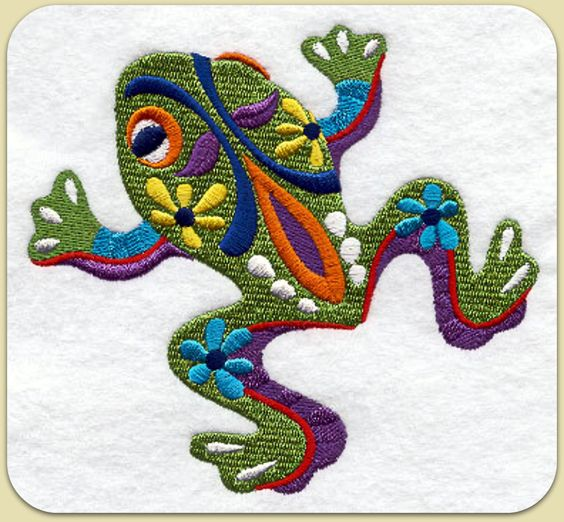 Frogs mexicans and embroidery on pinterest