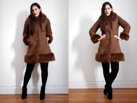 Vintage Sheepskin Shearling Aviator Penny Lane by StrobeVintage