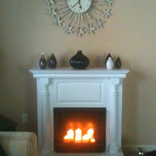 If you have a stand alone fireplace that uses burning gel ...