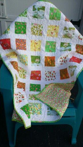 Heather Ross lap quilt