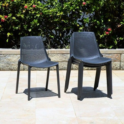 Resin Patio Chairs Dining, Outdoor Plastic Patio Furniture
