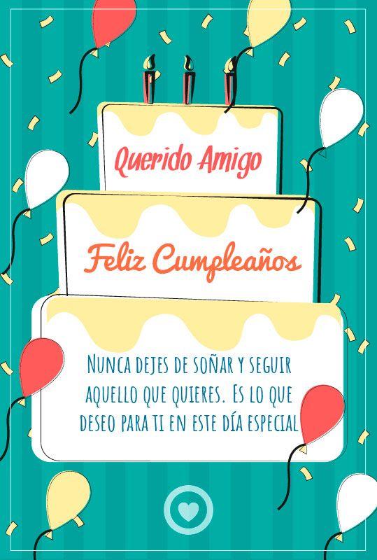 Mensaje De Cumpleaños Para Mi Amigo Imagenes Feliz