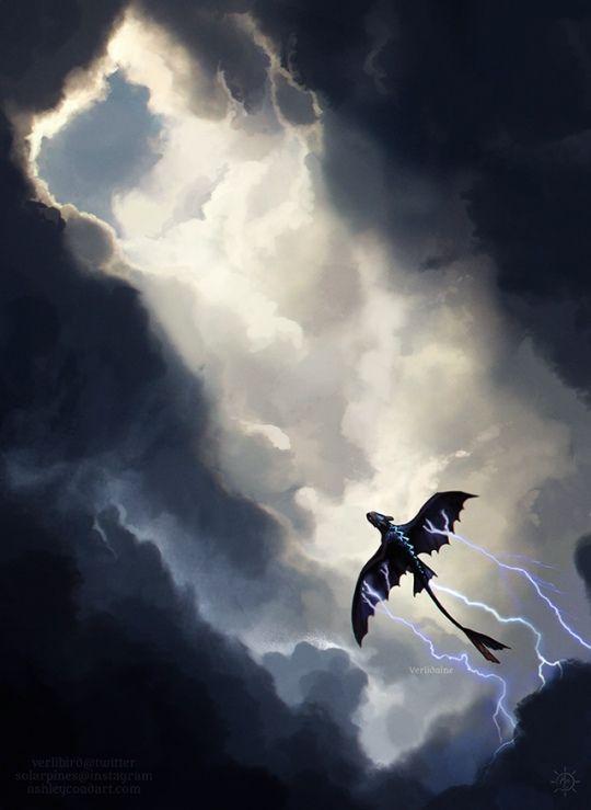 Furia De La Noite Dragoes Banguela Dragao E Arte De Dragao