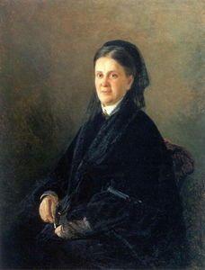 Nikolai Ge - Porträt von Anna Olsufyeva