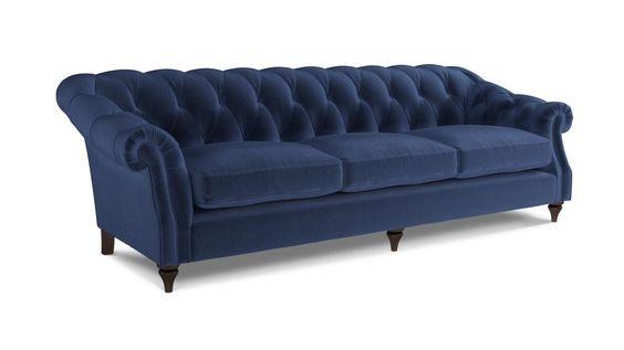 Darcy Grande Sofa Velvet - Navy