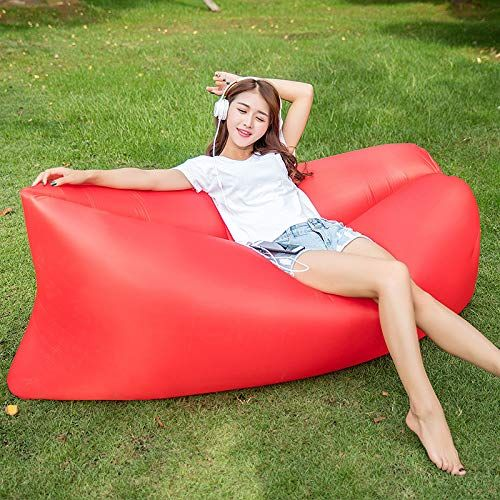 Myzixuan Portable Rest Inflatable Bed Inflatable Sofa Simple Field Home Fresh Out Inflatable Sofa Inflatable Lounger Inflatable Sofa Inflatable Hammock