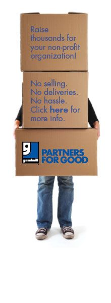 goodwill 39 s new fundraising program raise for your non profit by becoming a partner for. Black Bedroom Furniture Sets. Home Design Ideas