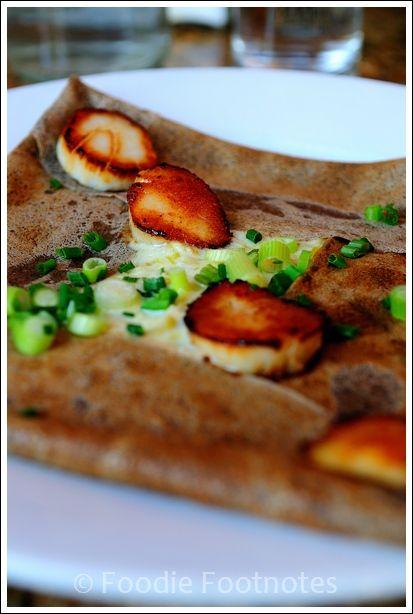 Scallop, leek & cream Crepe & La Cote Creperie