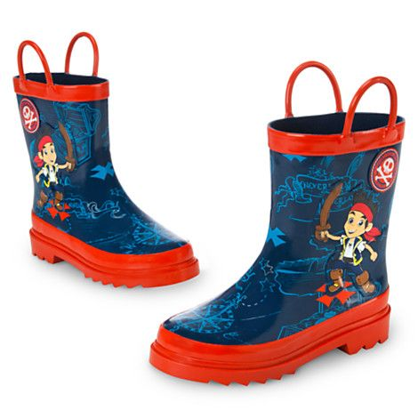 Jake and the Never Land Pirates Rain Boots for Boys | Puddles ...