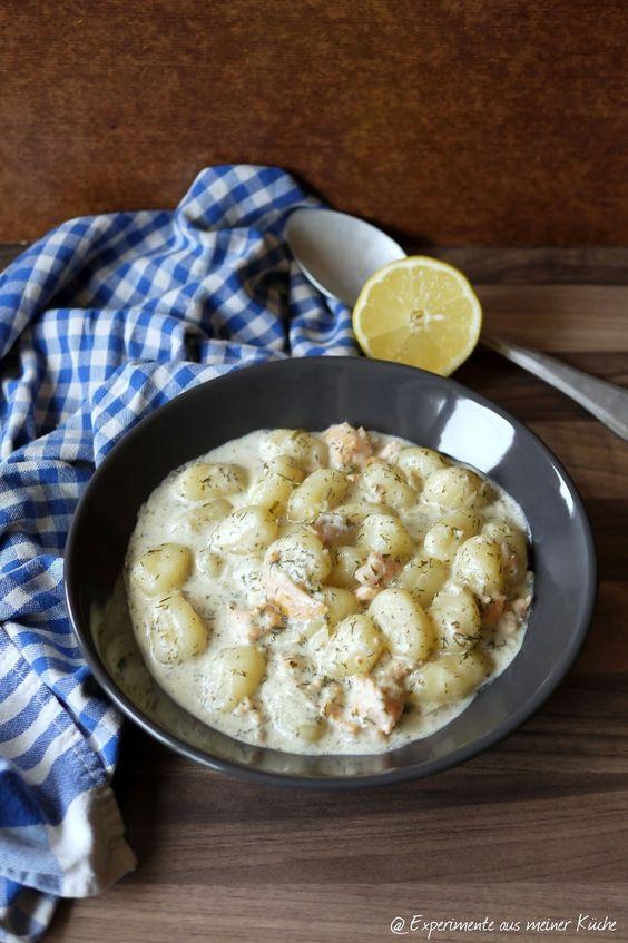 Experimente aus meiner Küche: Gnocchi in cremiger Räucherlachssoße