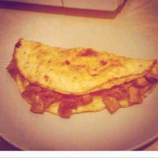 Pulled Pork Omelette.