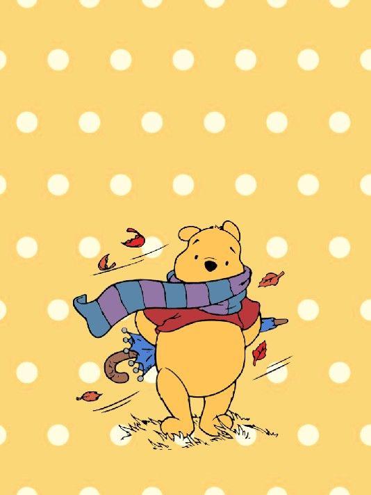 Winnie The Pooh Polka Dot Lock Screen Wallpaper For Phone