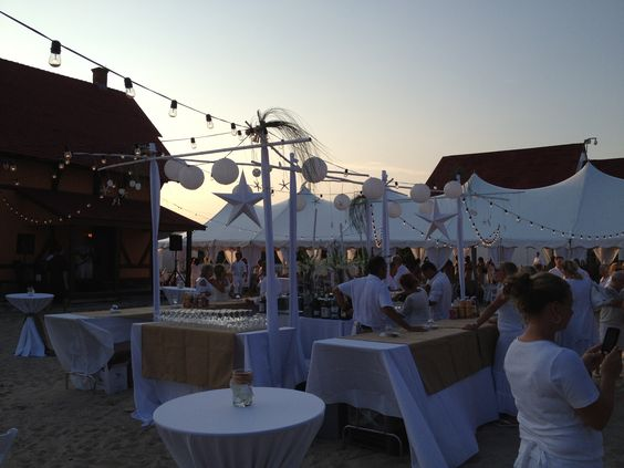 Beach Party White Indian River Life Saving Station Wedding Als Decor Dover All Tents Events Pinterest