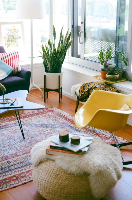 Amp up your ottoman with a fur throw.