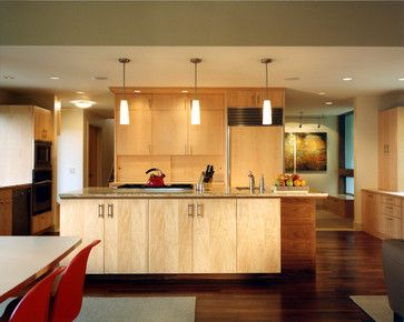 Maple slab cabinets, darker floors. Bryant Residence 05 ...
