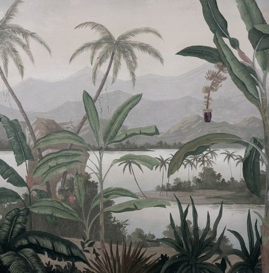 Paysages en grisaille mandalay grisaille vieillie - Grisaille wallpaper ...