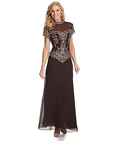 Jkara beaded chiffon gown dillards mother of the groom for Dillards wedding dresses mother of the bride