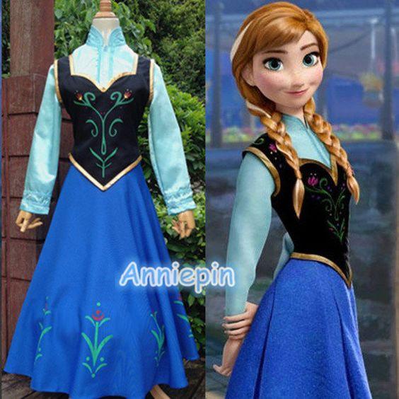 Princess Frozen Anna Costume Frozen Anna Dress Disney by anniepin, $35.99:
