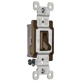 Brown Light Switches: Pass & Seymour/Legrand 15-Amp Brown Light Switch,Lighting