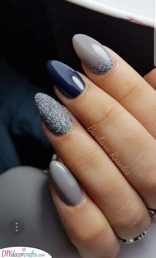 Amazing And Elegant Winter Nail Ideas Coffin Nails Designs Grey Nail Art Trendy Nails