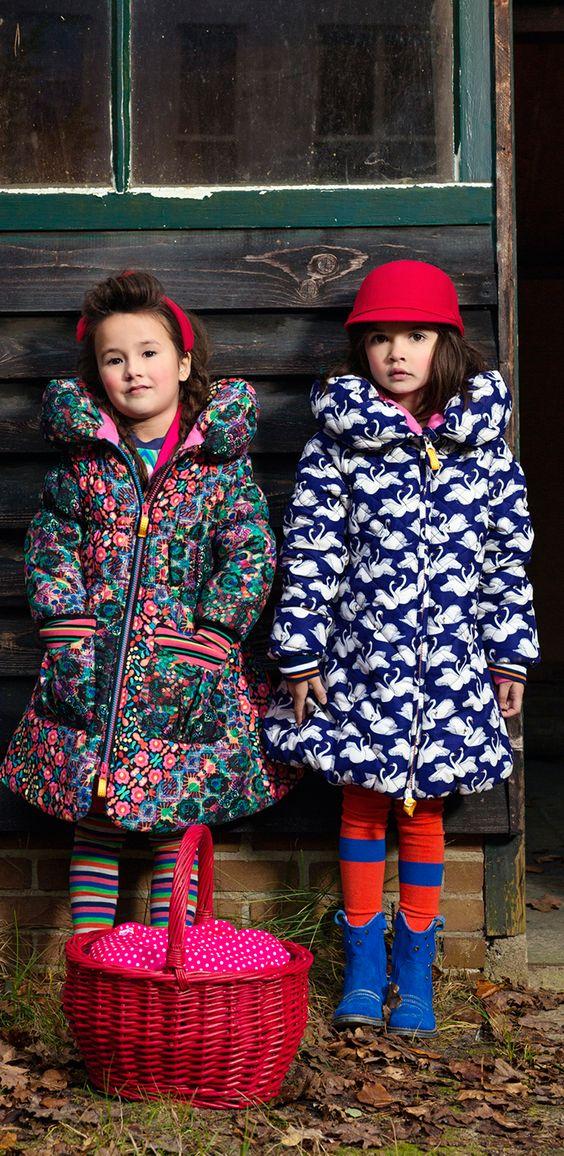 Kids Fashion Style for winter   Estilo infantil, inverno, casacos estampados.