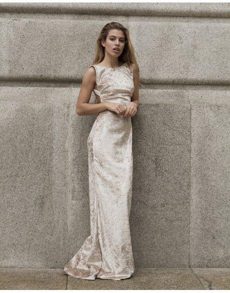 Vestido Veludo Cristal