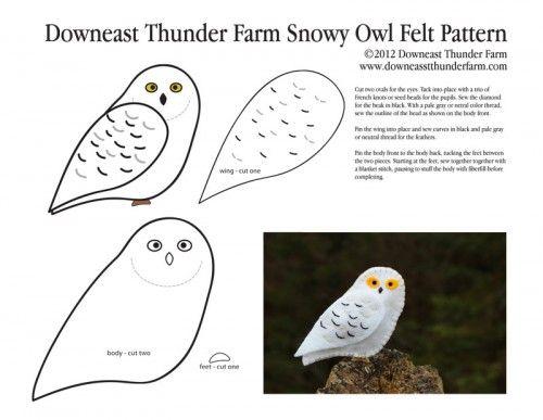 Snowy owl pattern / Patrón de búho nival (Bubo scandiacus)