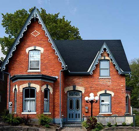 Colors Orange Brick Houses And Doors On Pinterest