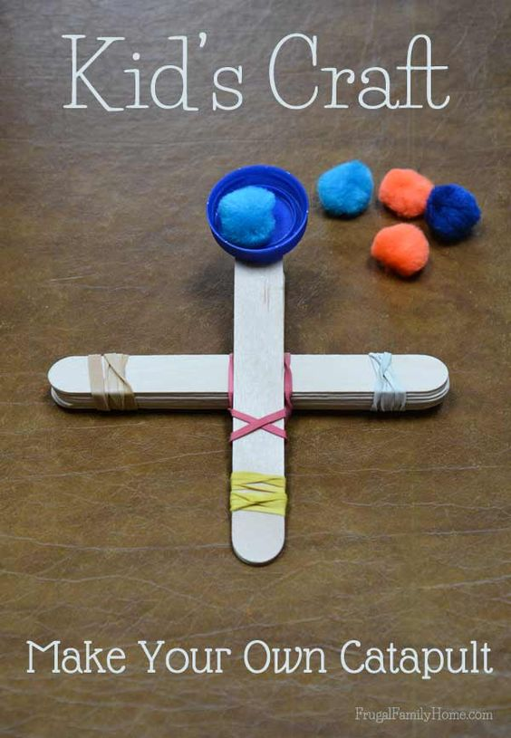 Catapult Craft For Kids: Kid's Craft, Popsicle Stick Catapult