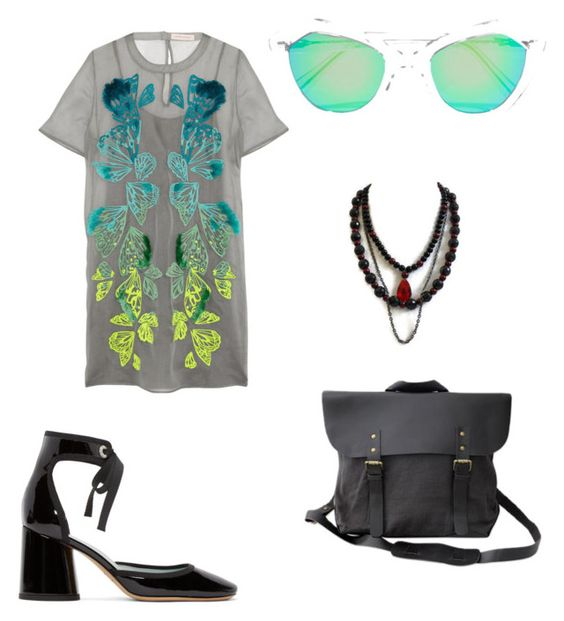 """time to work"" by bluediamond3 ❤ liked on Polyvore featuring Marc Jacobs, Matthew Williamson, NOVICA and Prism"