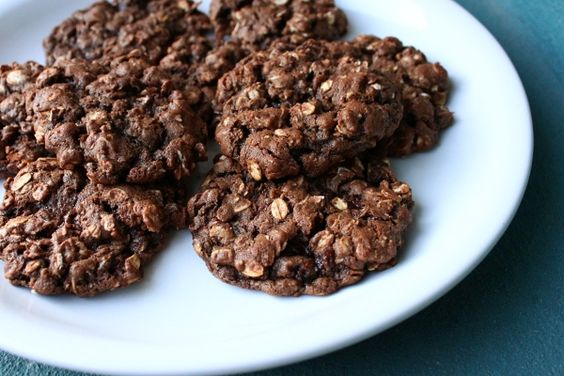 Chocolate oatmeal cookies like Earth Fare? Add chocolate chips and chopped walnuts.