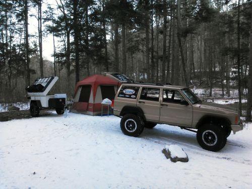 Xj Winter Camping