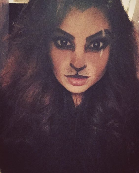 Lion makeup I did on myself. I decided to be scar from the lion king!