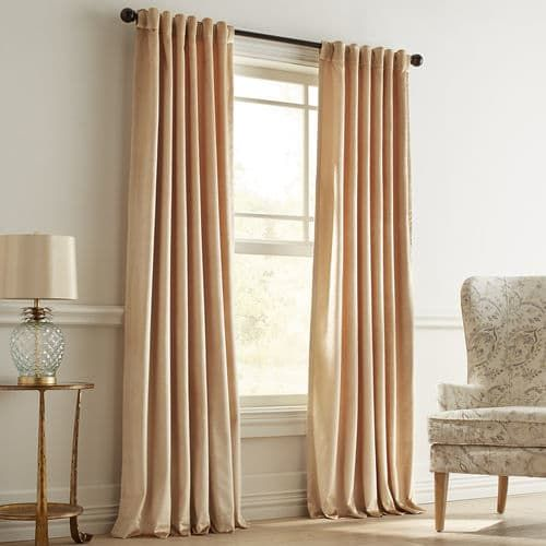 Velvet Shimmer Gold Curtain Pier 1 Imports Curtains Solid
