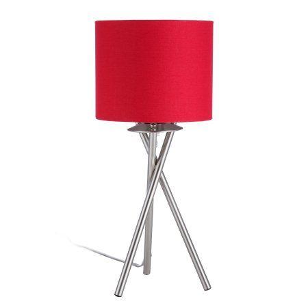 Euro Style Collection Lisboa Mini 15 Inch Table Lamp Red Tripod