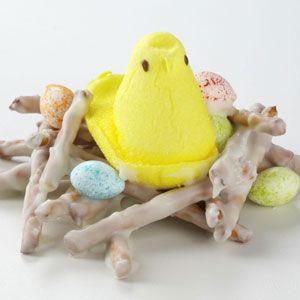 Bird Nests Recipe from Taste of Home -- shared by Jessica Boivin of Nekoosa, Wisconsin  #peeps