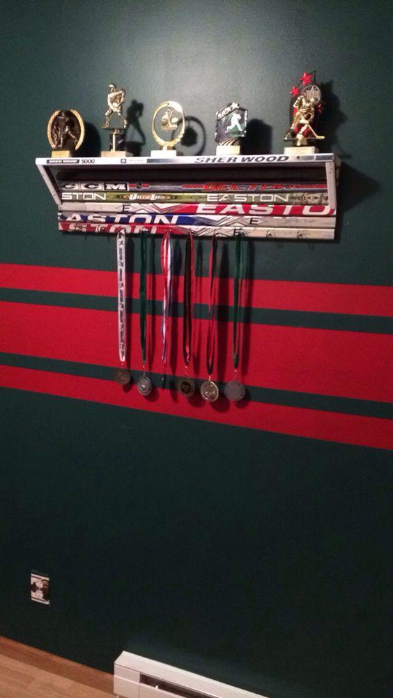 Hockey Stick Shelf Hockey Furniture Pinterest