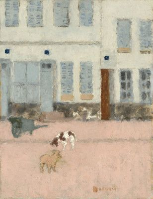 Pierre Bonnard / Two Dogs in a Deserted Street, c.1894