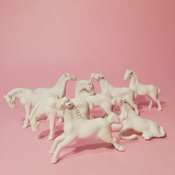 Caballos de cerámica