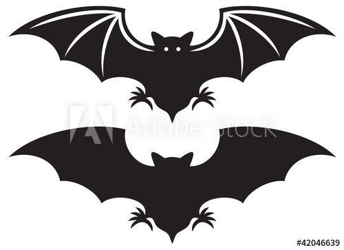 Silhouette Of Bat In 2021 Halloween Silhouetten Halloween Fledermaus Halloween