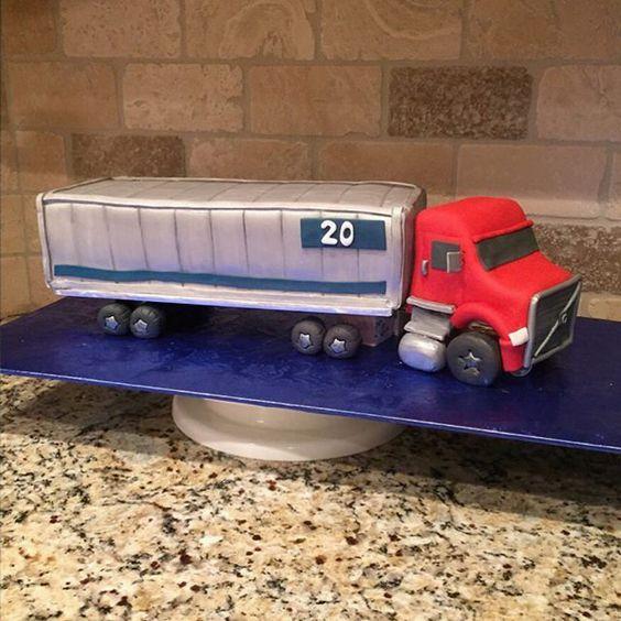 ccscakery | 3D 18 wheeler semi truck cake