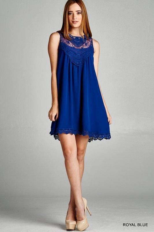 Come Back Here Blue Lace Shift Dress – The Laguna Room