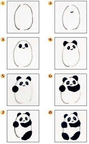 Osos Panda Dibujo Paso A Paso Como Dibujar Un Oso Animales Faciles De Dibujar Aprender A Dibujar Animales