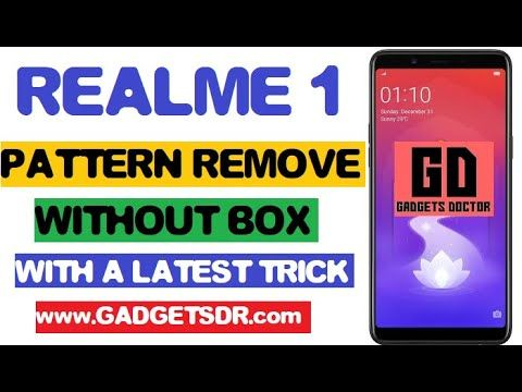 Remove Realme 1 Rmx1859 Pattern Lock Password Pin Remove