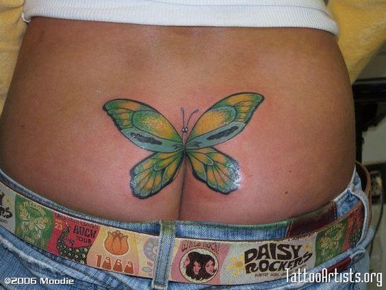 Butterfly Tattoo On Ass 111