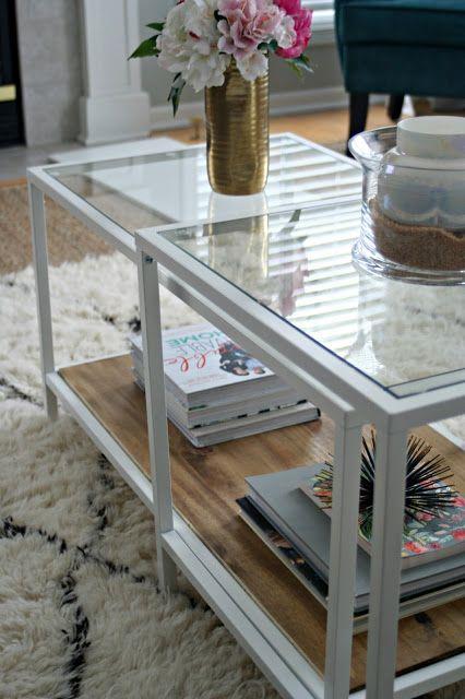 ikea wood stain and nesting tables on pinterest