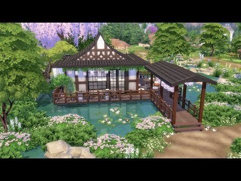 I Made A Traditional Park Tea Garden For A Japanese Neighbourhood I M Building In Newcrest Thesimsbuil Sims 4 House Design Sims Building Sims House Design