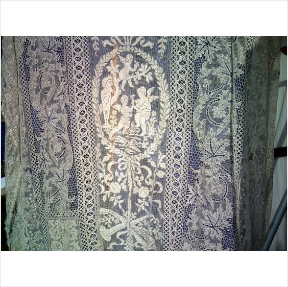 French Or Belgian Rare Victorian Antique Handmade Lace