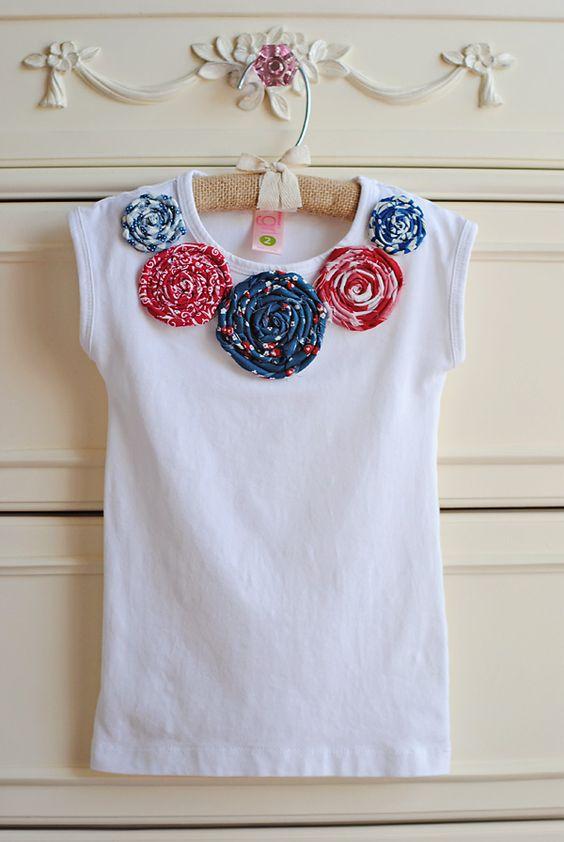Mommy by day Crafter by night: Embellished little girls shirt: